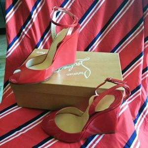 Authentic Christian Louboutin Wedges
